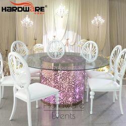 기계설비 도매 스테인리스 간절히 원한 기본적인 결혼식 유리제 대중음식점 LED 테이블