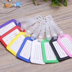 Colorido material transparente de PVC Etiqueta de Equipaje