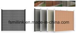 Hölzerner zusammengesetzter Plastikzaun AluminiumFecning Garten-Zaun WPC