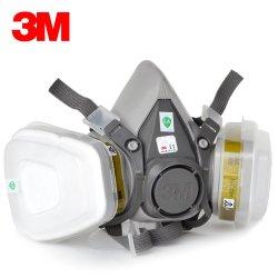 3m 6200половина маску для лица картридж химического респиратор пылезащитную маску