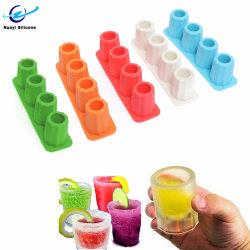 Grau alimentício Cup Bandeja cubos de gelo de silicone para máquina de gelo