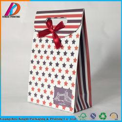 Die Cut élégant Sac en carton de papier avec Bowknot ruban