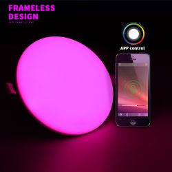 Lampada da soffitto LED senza cornice colorata 24W RGB Wireless 2,4 G Con Superficie intelligente 3D