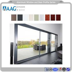 Moda Narrow-Framed Revestimiento de polvo o las puertas y ventanas de aluminio anodizado para Mar Villas y Apartamentos Hoteles