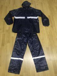 PVC 폴리에스테 비옷 방수 직물 우천용 의류