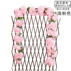 Dekorative Rose Rebe Blumen Pflanzen Künstliche Blume hängende Rose EFEU Startseite Hotel Büro Hochzeit Party Garten Handwerk Kunst Dé Cor Rosa