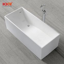 Прямоугольная твердой поверхности ванны отдельностоящие камня ванной белый матовый (BT2001252)