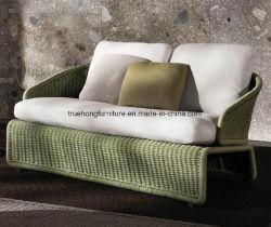 Sofà UV esterno di Resistand del sofà del rattan del PE del rattan del sofà della mobilia del PE del rattan della mobilia del PE del rattan due del sofà esterno esterno esterno della sede