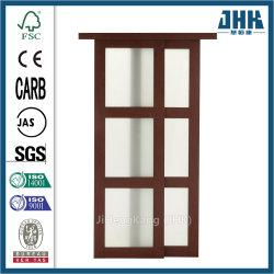 Portello scorrevole del legname di vetro moderno dell'armadio