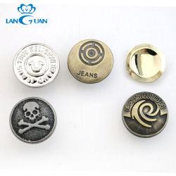 デザイナー亜鉛合金のデニムの金属のジーンズのシャンク・ボタンをカスタマイズしなさい
