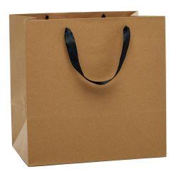 Personnalisé Papier Kraft imprimé Euro fourre-tout un sac de shopping pour les dons/Parti