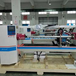 Alta precisión de cinta automático Baloney Registro rebobinadora cortadora longitudinal