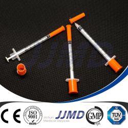 0.3ml/0.5ml/1ml固定針が付いている使い捨て可能なインシュリンのスポイト
