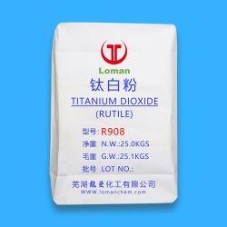 Trattato da Zro2 Al2O3 e pigmento organico del diossido di titanio del rutilo di trattamento di superficie R908