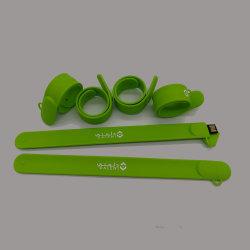 Azionamento 4GB 8GB 16GB 32g della penna dell'istantaneo del bastone di memoria del USB 2.0 della fascia di manopola del silicone del commercio all'ingrosso dell'azionamento dell'istantaneo del USB del braccialetto