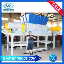 Doppelter Welle-Abfall-Papppapier-Gummireifen-Barrels Gummimetallschrott-hölzerner Klumpen Trommeln Rohr und Plastikreißwolf für die Wiederverwertung