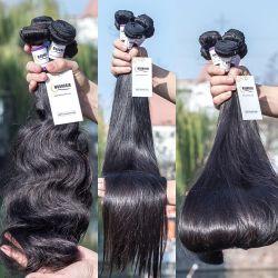 Extensión de cabello humano trama Vrigin indio brasileño materias Cabello Humano teje vietnamita llamado doble grado 12A PAQUETES DE PELO