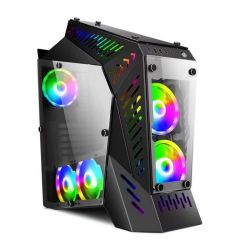 Ventilador de RGB de vidrio templado Micro ATX Gaming Computadora