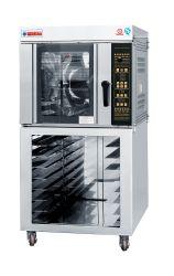 De bakkerij combineerde de Oven van de Convectie van de Hete Lucht met de Oven van het Rek of van het Dek voor het Brood van het Baksel en Cake in de Opslag