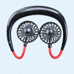 도매는 자유로운 휴대용 목 거는 악대에게 360 정도 판매를 위한 LV3 최빈값 바람 소형 USB를 가진 조정가능한 목 스포츠 팬을 수교한다