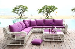Удобные большие пространства для использования вне помещений диван мебель с плетеной соткать