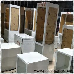 Almacén de rotación de suelos de madera y metal apilable supermercado Soporte de pantalla