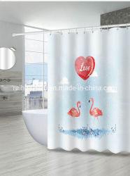 Listo para stock Dispatchamazon Shipin rápido vendedor superior 2020 3D de Impresión Digital personalizado de tejido de poliéster impermeable con ganchos de cortina de ducha