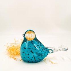 De vidro transparente de ornamentação Blue Bird Artesanato Vidro arte para decoração