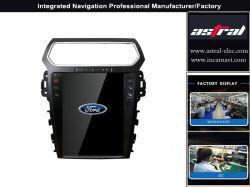 차 입체 음향 라디오 공장 공급 Ford Explorer Tesla 스크린 GPS 항해자 수직 차는 핸즈프리 4G WiFi 텔레비젼 핸들을 감시한다