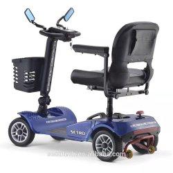 Baja velocidad Engelli Four-Wheeled fácil ir Fourstar Tracker GPS Movilidad eléctrica silla de ruedas Scooter 4