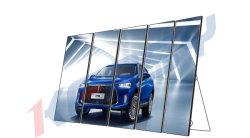 スクリーンLEDポスター表示パネルを広告するHD P1.75 LEDミラーの表示
