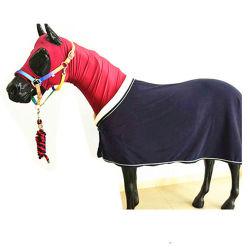 乗馬のスポーツのアブのベールの耳のボンネットの馬のホールターの鉛のRopeshorseの羊毛の敷物