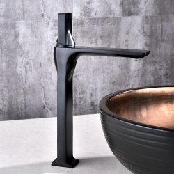 الحمام الأسود المياه الباردة الساخنة ببراس حوض الغسيل بمقبض واحد اضغط على المازج