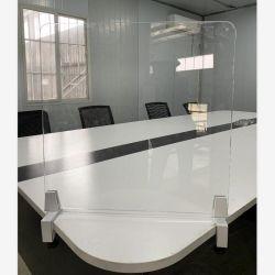 El restaurante escuela mesa de oficina de 8mm Thicknesstransparent aislamiento acrílico Placa de protección de plástico (Sin Clip)