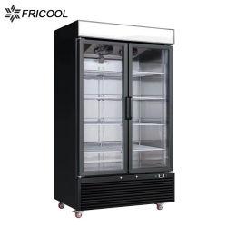 유리 문 냉동고 2개 패스트푸드 냉장 디스플레이 케이스 CE/ETL