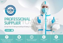 En 14126 EPI no tejido de protección desechables, sobretodo las prendas de vestir con Ce FDA fabricante profesional de China