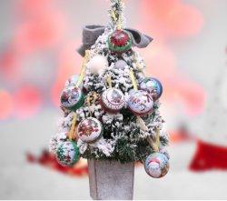 زينة عيد الميلاد مربع حلوى تنصفيحة لزينة عيد الميلاد