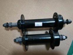 1 coppia di robusti mozzi per biciclette anteriori posteriori in acciaio nero