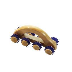 8 Terapia de madera de las ruedas de la acupresión parte posterior del cuello masaje de cuerpo Auto Roller músculo relajarse Tool