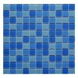 25X25mm Novo Fabricante Foshan Piscina Brilhante Mosaico mosaicos de vidro
