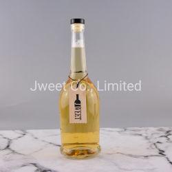 L'abitudine 700ml rimuove le bottiglie di vetro vuote del vino del brandy del whisky con sughero