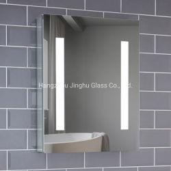 Voyant lumineux décoratif de l'aluminium une porte de la médecine Salle de bains en miroir à LED Cabinet