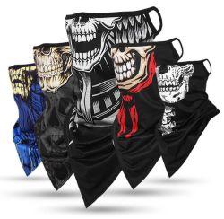 Популярные мужская череп лицевой стороной для печати Без шарфа с заушное крепление CS Дышащий Bandana трубки с сетчатой льда шелковые ткани