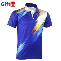 高品質乾燥した適合のポリエステルによってカスタマイズされるロゴカラー悪感情細い適合の昇華印刷の100%年の綿の短い袖のゴルフ昇進のTシャツの人のポロシャツ