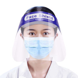 Volles Schutz-Gesichts-Schild für Aerosole, Sprays und Splatters