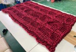 El lujo de lana sintética tejida cable grueso Hand-Woven sofá-cama silla Manta lanzar
