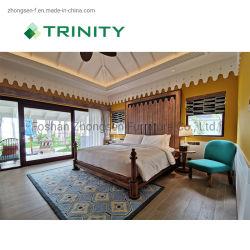 hecho personalizado de madera comercial moderna habitación de hotel Muebles de Salón de la hospitalidad de 5 estrellas Resort Villa Apartamento