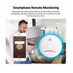Rivelatore di fumo, sensore senza fili del segnalatore d'incendio di incendio del fumo di WiFi, allarme di protezione di obbligazione per automazione domestica