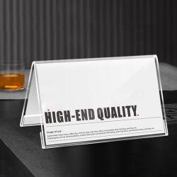 بطاقة اجتماعات ذات جهة مزدوجة على شكل حرف V ذات شكل حرف V منتجات ذات وجهين مخصصة للنزيل بطاقة المقعد