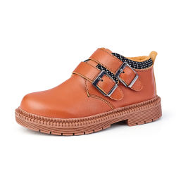 مدرسة الأطفال أحذية الأطفال غير الرسمية الأولاد أحذية سوداء الأطفال أحذية جلدية